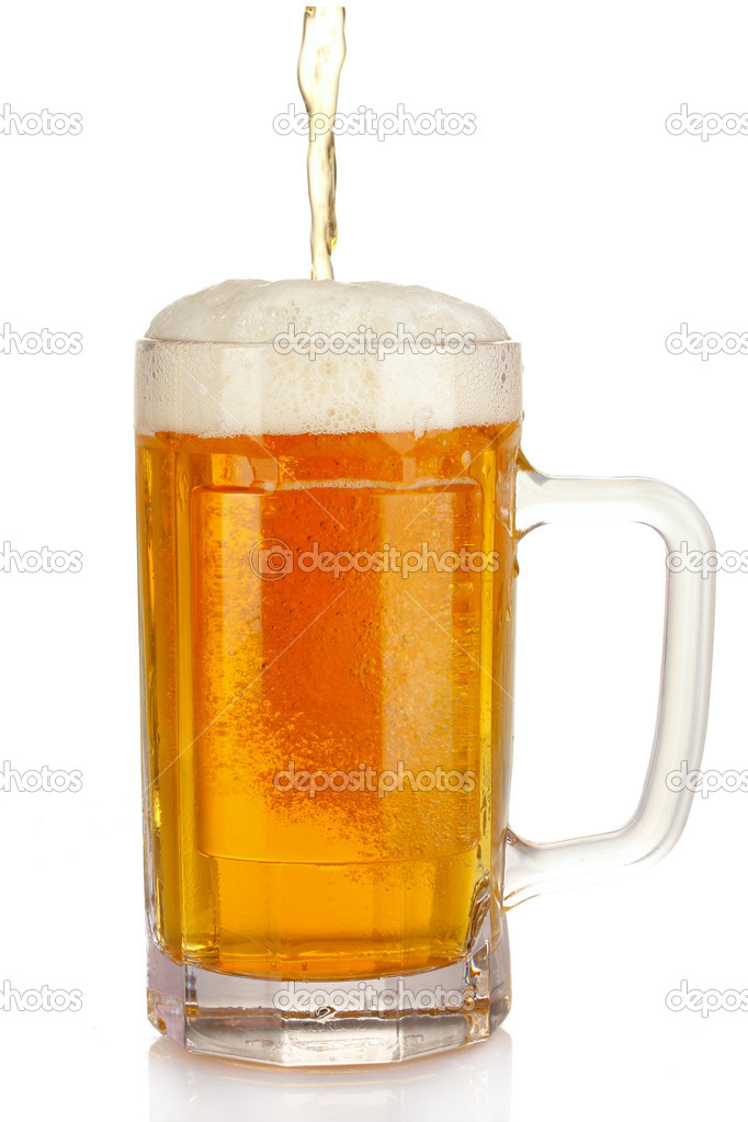 Mug of beer isolated on white — Stock Photo #6793442