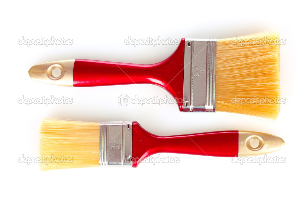 Two brushes are isolated on a white — Stock Photo #6796647