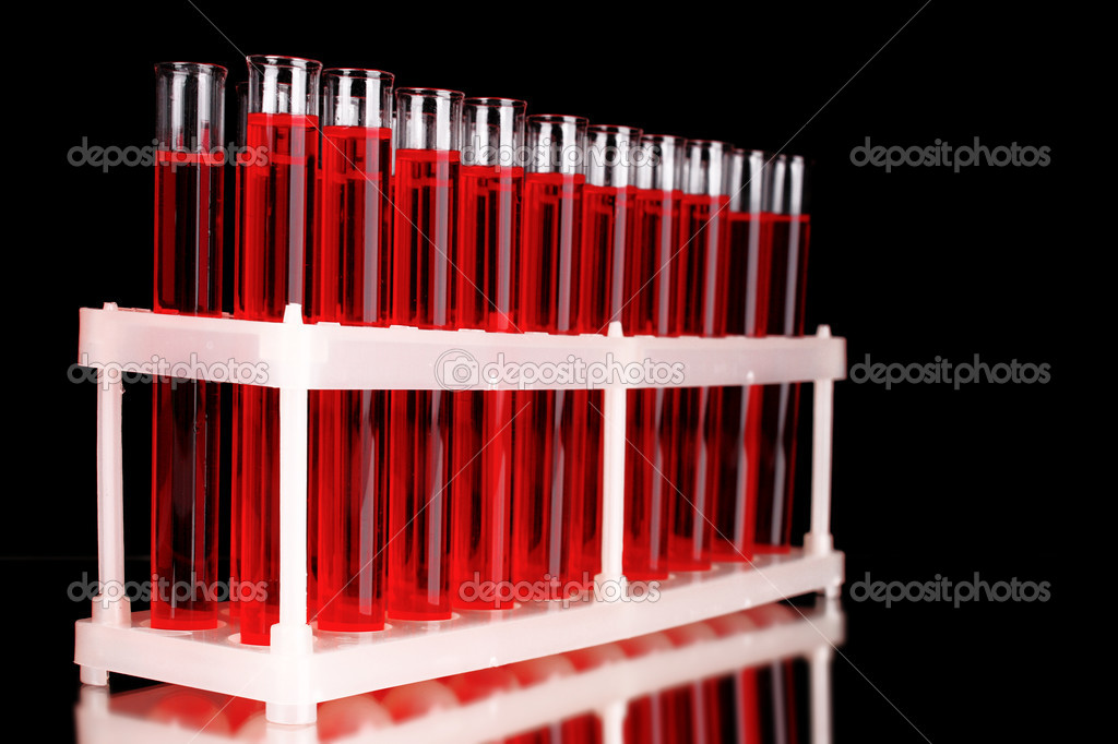 Test-tubes on black background  Stock Photo #6799035
