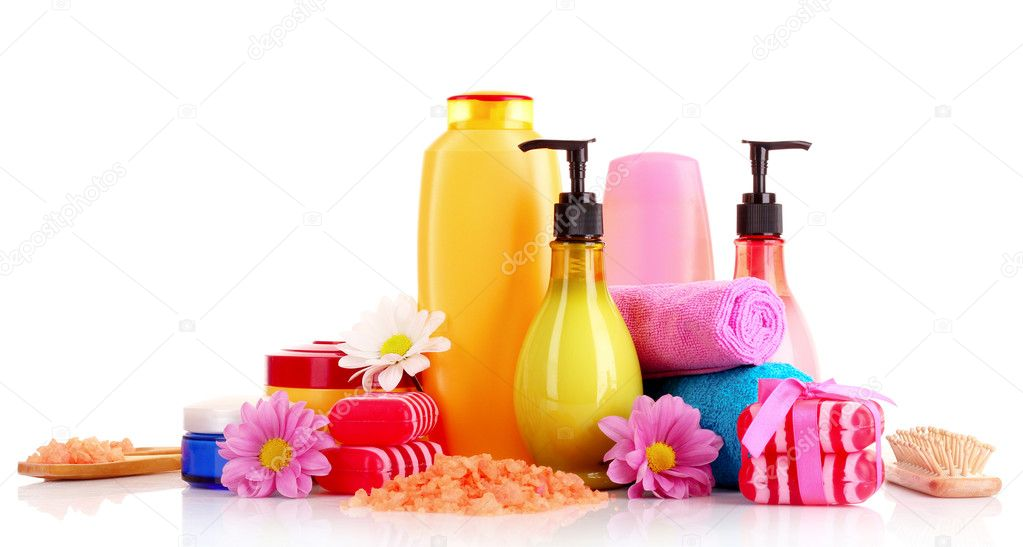 A set of bath cosmetics isolated on white — Stock Photo #6799122