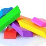 Bright erasers — Stock Photo