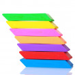 Bright erasers — Stock Photo #6800091