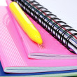 Bright notebooks and markers — Stock Photo #6800145