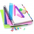Bright notebooks and markers — Stock Photo #6800148