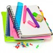 Bright notebooks and markers — Stock Photo #6800149