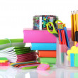 Bright stationery and books — Stock Photo #6801045