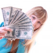 Girl with dollars — Stock Photo #6805559