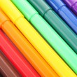 Stock Photo: Felt pens as a background