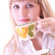 Girl with cup — Stock Photo #6805926