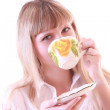 Girl with cup — Stock Photo #6805932