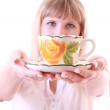 Stock Photo: Girl with cup