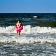 Young woman in sea — Stock Photo