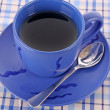 Blue cup of tea on the the table — Stock Photo #6806888