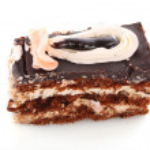 Chocolate cake with cream — Stock Photo #6806909