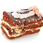 Chocolate cake with cream and cherry — Stock Photo #6806911