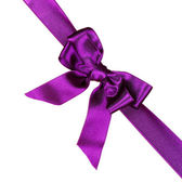 Purple ribbon and bow — Stock Photo
