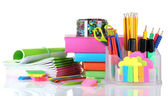 Bright stationery and books — Stock Photo