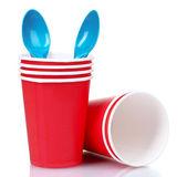 Plastic tableware — Stock Photo