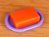 Soap and soap dish — Stock Photo