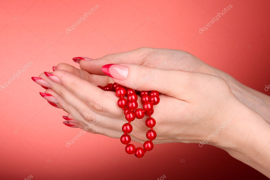 Beads in hand — Stock Photo #6800044