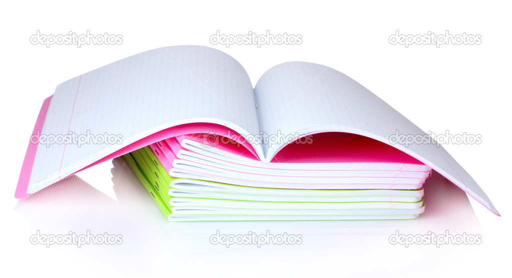 Few notebooks isolated on white — Stock Photo #6800106