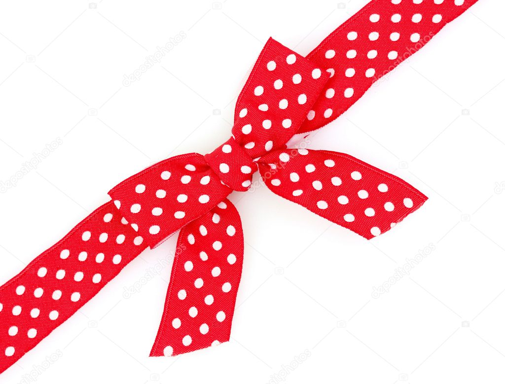 dotted red ribbon and - photo #2