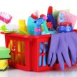 Full box of cleaning supplies — Stockfoto #6818658