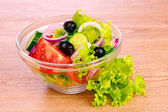Salad of fresh vegetables on the plate — Stock Photo