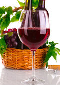 Nice glass of red wine — Stock Photo