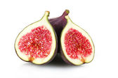 Ripe figs isolated on white — Stock Photo
