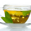 Постер, плакат: Green tea in transparent cup