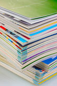 Stack of magazines closeup — Stock fotografie