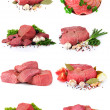 Fresh raw meat collection - Stock Photo