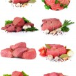 Royalty-Free Stock Photo: Fresh raw meat collection