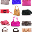 Collage of colorful bags. isolated on white — Stock Photo #7262857
