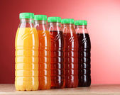 Bottles with juice — Stock Photo