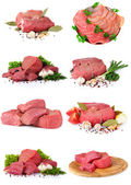 Fresh raw meat collection — Stock Photo