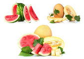 Collage(set) of watermelon — Stock Photo