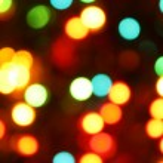 Noel ışıkları arka planını renklendirin — Stok fotoğraf