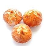 Three cupcakes on white background — Stock Photo #7287680
