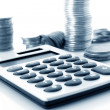 Stock Photo: Calculation of financial growth and investment