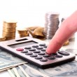 Calculation of financial growth and  investment — Stock Photo