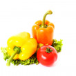 Fresh vegetables on white background — Stock Photo #7288538