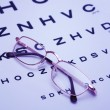Glasses on test chart — Stock Photo #7288895