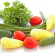 Stock Photo: Collection of vegetables on white