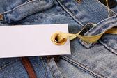 štítek na džíny — Stock fotografie