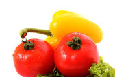 Fresh vegetables on white background. Diet concept. — Stock Photo