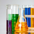 Stock Photo: Test tubes in laboratory