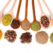 Spices in the spoons — Stock Photo