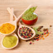 Spices in the spoons — Stock Photo #7294939